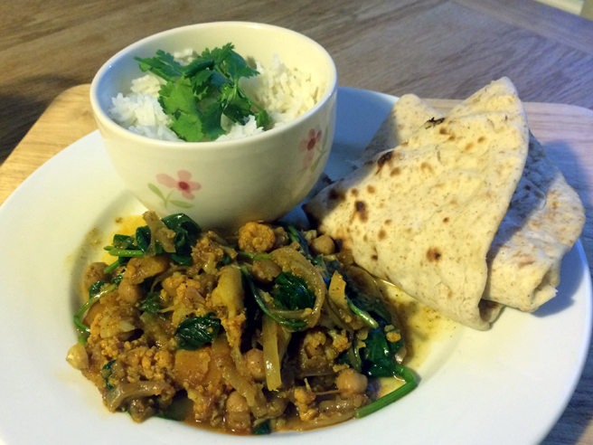 Jamie's vegetable rogan josh