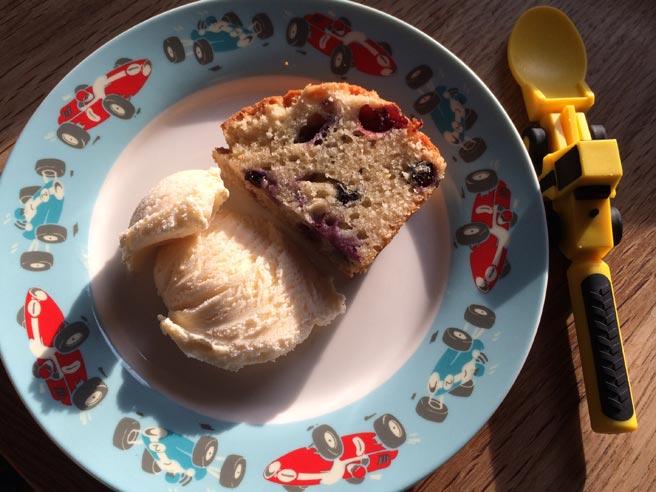 Yoghurt and blueberry cake