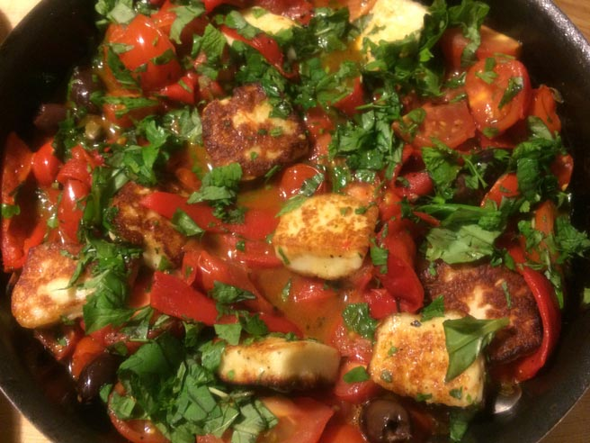 Halloumi stew